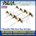 Sealey S01070 T-Handle TRX-Star Key Set 8pc
