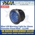Durite 0-607-32 Blue LED Warning Light for 20mm Diameter Panel Hole - 12/24V