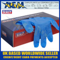 Sealey SSP55L Premium Powder-Free Disposable Nitrile Gloves Large Pack of 100