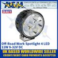 Sealey WL12W Off-Road Work Spotlight 4 LED 12W 9-32V DC