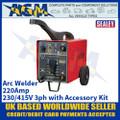 Sealey 220XTD Arc Welder 220Amp 230/415V 3ph with Accessory Kit
