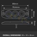 LED Autolamps 11FCM Rear Fog Lamp (Clear Lens) Lights Red - Low Profile - 12/24V