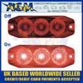 LED Autolamps 11FM Rear Fog Lamp Red Lens - Low Profile - 12/24V