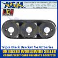 LED Autolamps 82B3B Triple Black Bracket for 82 Series