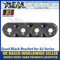 LED Autolamps 82B4B Quad Black Bracket for 82 Series