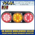 LED Autolamps 82BFARC Triple Combination Rear Lamp, Clear Lens, Black Bracket 12v