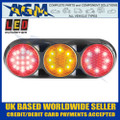 LED Autolamps 82BFARCM Triple Combination Rear Lamp, Clear Lens, Black Bracket 12/24v