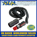 Genuine HELLA Din/Cigar Size Plug with Trailing Socket 3M Extension Lead