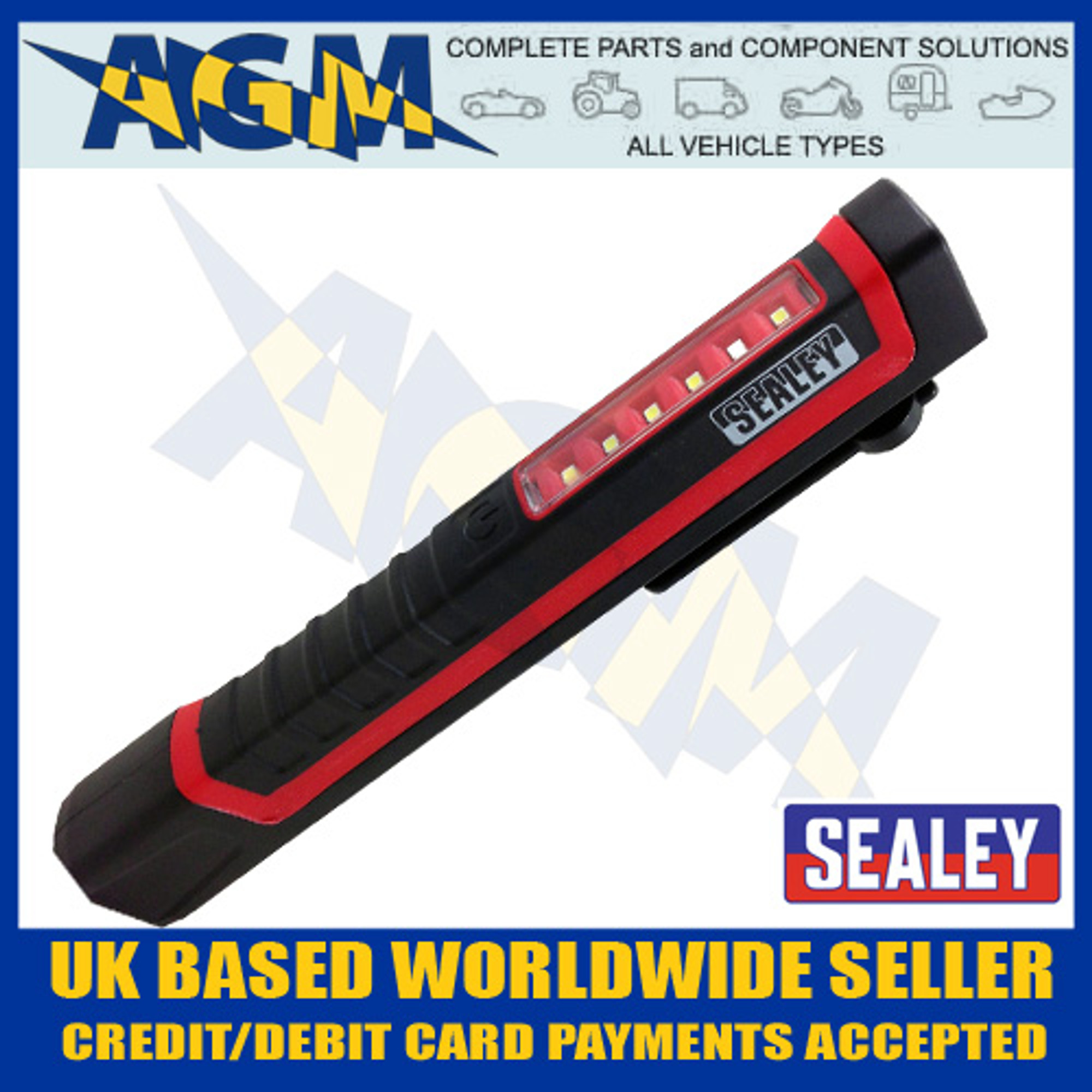 Power Bank 3W LED Sealey LED318G Rechargeable Inspection Lamp Green 5W COB