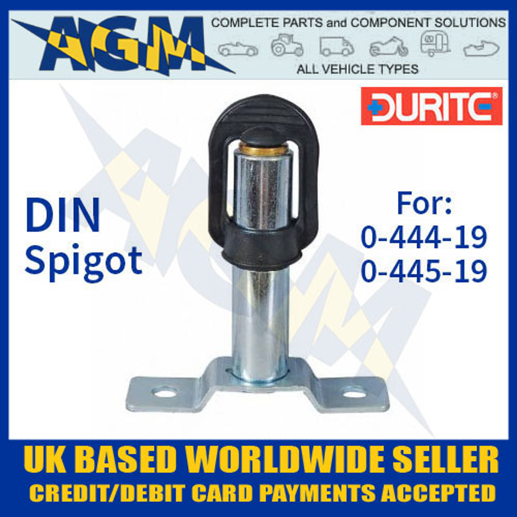 0-445-19 Spigot DIN Mounting for Beacon Durite