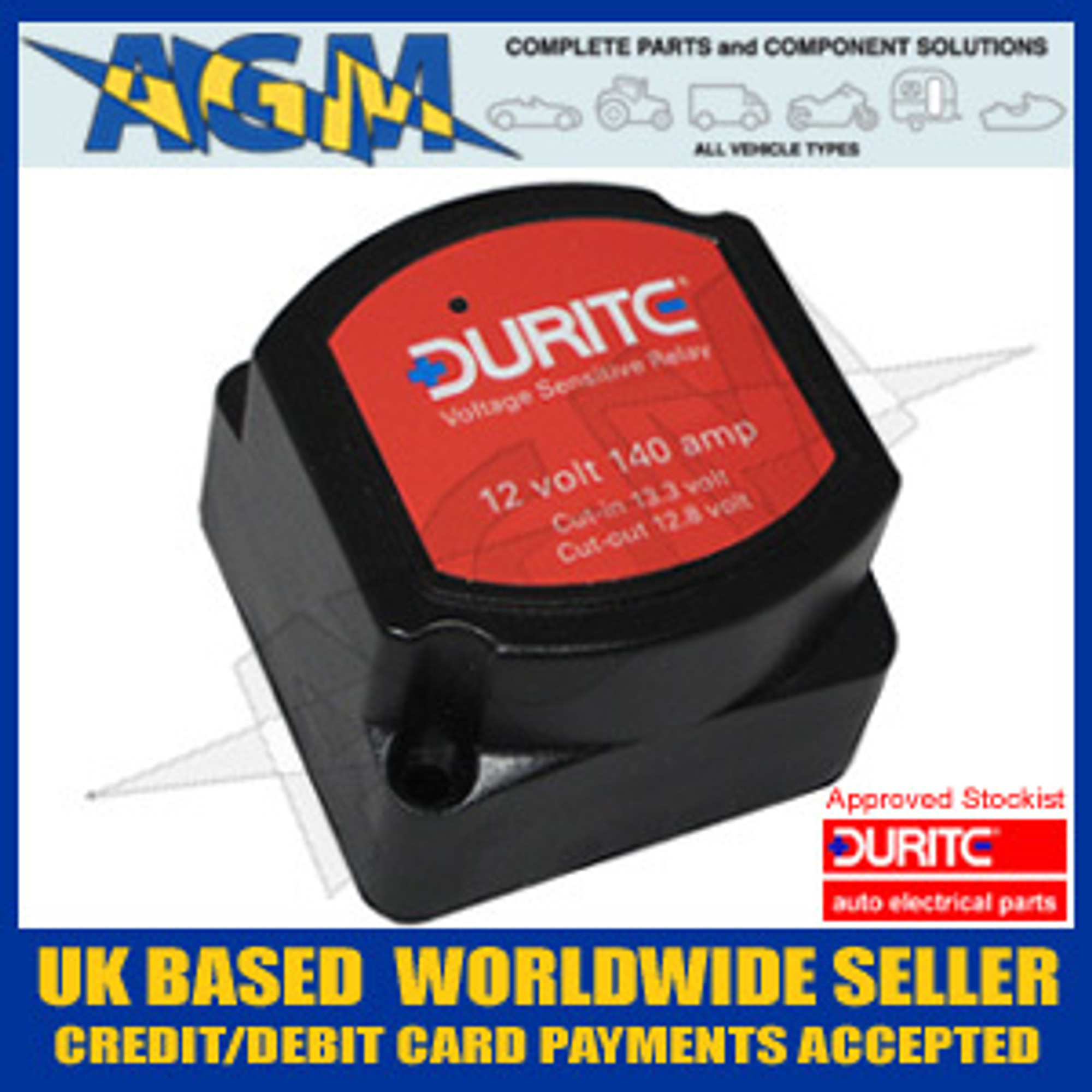 Relay Durite 0 727 33 12v 140a Split Charge Intelligent