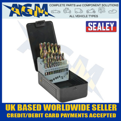 sealey, siegen, s0938, hss, titanium, coated, metric, drill, bit