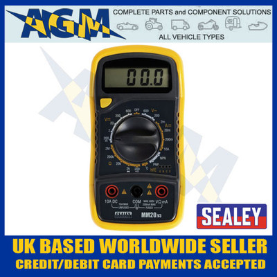 sealey, mm20, digital, multimeter, test, probe, thermocouple, lcd