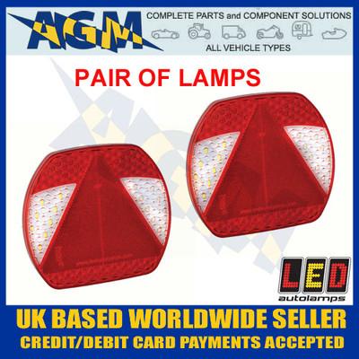 pair, eu195lr2, led, rear, lights, lamps, stop, tail, fog, indicator, reverse, eu195l, eu195r