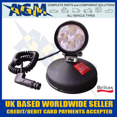 britax, l80.02.lmv, led, work, lamp, search, light,  12v, 24v, magnet, base