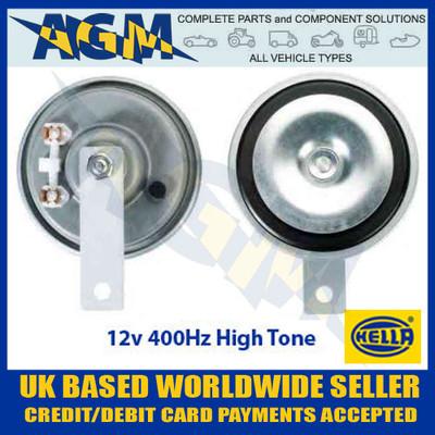 HELLA 3AL002952-811, 12v 400Hz Disc Horn (High Tone)