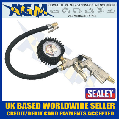 sealey, sa924, air, tyre, inflator, tyre, pressure, gauge