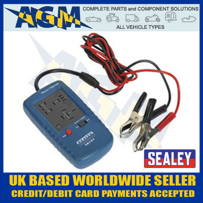 sealey, ta131, relay, tester, standard, mini, relays