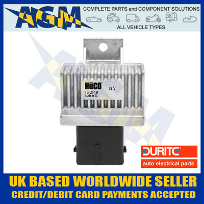 durite, 013333, 0-133-33, 12v, glow, heater, plug, pre-heat, relay