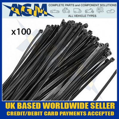 300mm, 4.8mm, black, cable, ties, hfc300