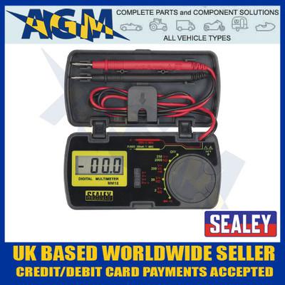Sealey MM18 Pocket Sized Digital Multimeter/Test Multi Meter in Storage Case