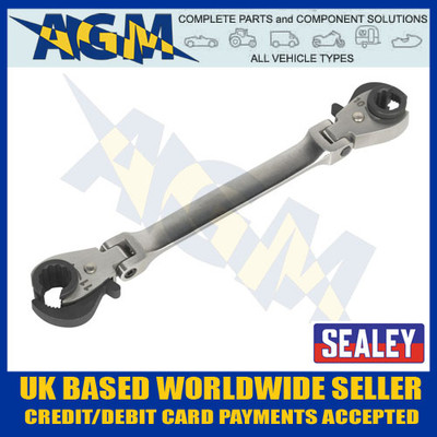 sealey, vs0347, flare, nut, brake, pipe, flexi, head, ratchet, spanner, wrench