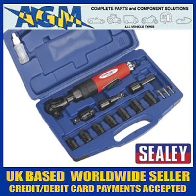 """Sealey Generation Series Air Ratchet Wrench Kit 1/2""""Sq Drive"""