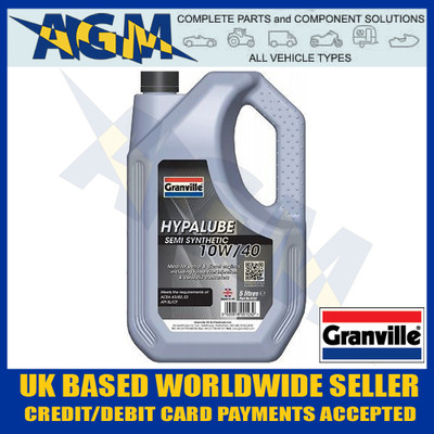 granville, hypalube, semi, synthetic, petrol, diesel, engine, oil, 10w40