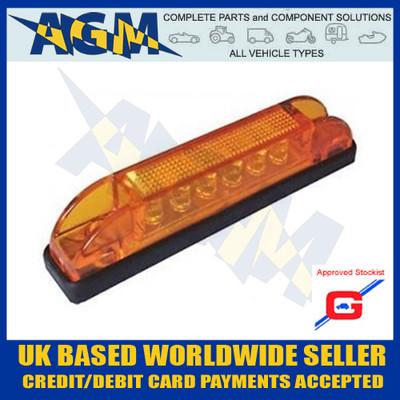 slimline, led, side, marker, lamp, amber, 12v orange, position, light