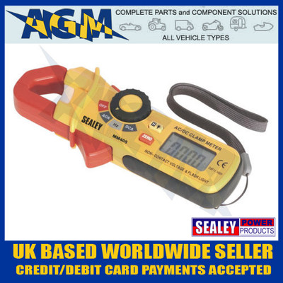 sealey, mm405, voltmeter, ammeter, ac, dc, clamp, meter, clip