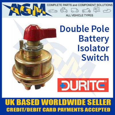 double, pole, battery, isolator, switch, durite, 0-605-22, 060522