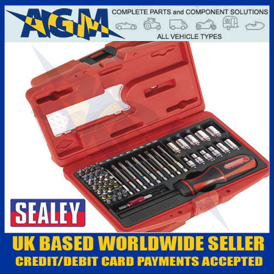 sealey, ak64903, fine, tooth, ratchet, screwdriver