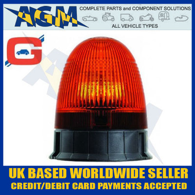 AMB71, Halogen Rotating Beacon, 3 Bolt Fix, 12/24v Beacon