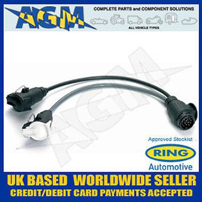 Ring Automotive A0038 Towing Adaptor Twin 7 Pin Socket/13 Pin Plug