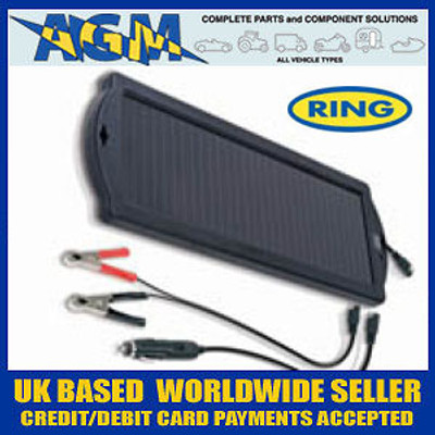 Ring Automotive RSP150 1.5W 12V Solar Power Trickle Charger