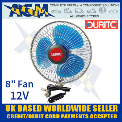 durite, 021062, 0-210-62, vehicle, 12v, oscillating, fan