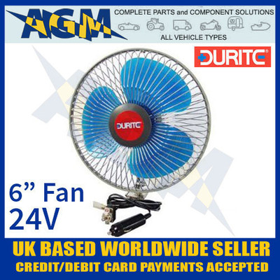 Durite 0-210-44, In Vehicle 6 Inch Oscillating Fan 24v