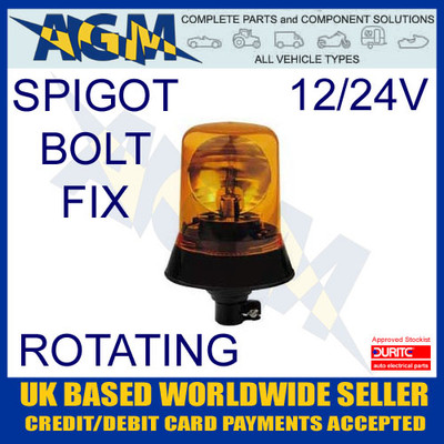 0-444-19 12V-24V Rotating Beacon with DIN Spigot Fixing