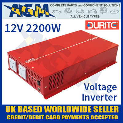 0-857-22, 085722, 12v, 2200w, durite, sine, wave, voltage, inverter