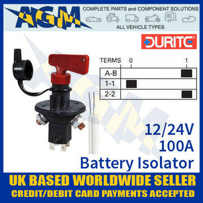 0-605-90, 100a, 24v, battery, isolator, switch