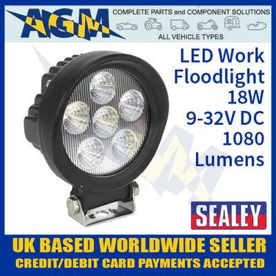 led, work, flood, light, sealey, wl18w