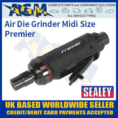 sealey, sa652, air, die, grinder, midi, size, straight, premier