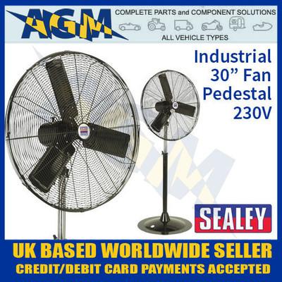 sealey, hvsf30, industrial, high, velocity, pedestal, fan, 230v