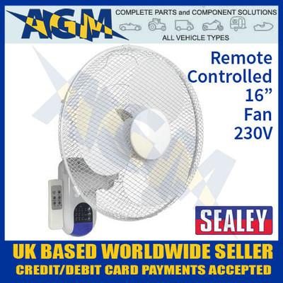 sealey, swf16wr, wall, fan, remote, control, 230v
