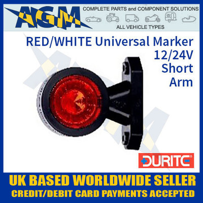 durite, 0-172-20, 017220, red, white, universal, led, outline, marker, lamp, 12v, 24v