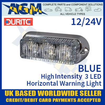 durite, 0-442-02, 044202, blue, high, intensity, led, horizontal, warning, light, 12v, 24v