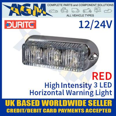 High Intensity 6 LED WHITE Warning Light Slimline Strobe 12//24v DURITE 0-441-07