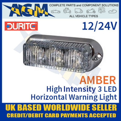 durite, 0-442-10, 044210, amber, high, intensity, led, horizontal, warning, light, 12v, 24v