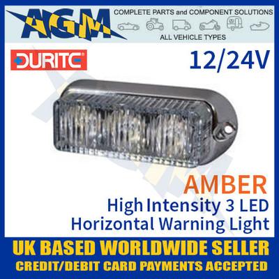 durite, 0-442-10, 044210, amber, high, intensity, led, horizontal, warning, light, 12v, 24v