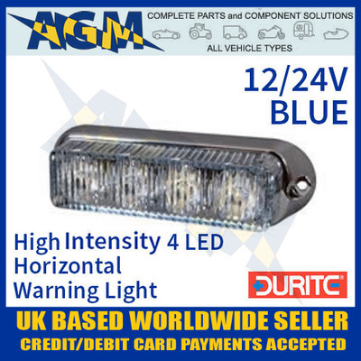 durite, 0-442-12, 044212, blue, high, intensity, led, horizontal, warning, light, 12v, 24v